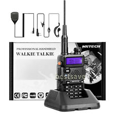 "NKTECH DM-5RX VHF UHF DMR Digital Mobile 2 Way Radio Walkie Taklie 8.3"" ANT +MIC"