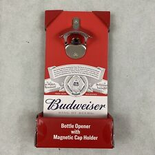 Budweiser Bottle Opener With Magnetic Cap Holder