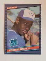 1986 Donruss Fred McGriff #28 Baseball Rookie Card - Toronto Blue Jays