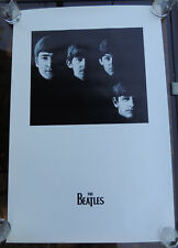 """With the Beatles LP Cover Poster by Apple Corps 1999 Black & White 24 x 36"""""""