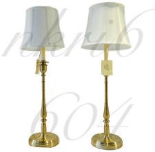 BRAND NEW Pair Of 2 Ralph Lauren Darien Candlestick Table Lamps Brass Gold