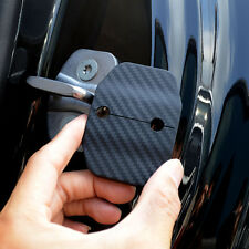 Door Lock Protective Cover ABS Carbon Fiber Kit 4pcs For BMW X5 F15 2014-2016