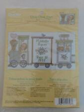 Bucilla - Choo Choo Train Baby Birth Record Counted Cross Stitch Kit # 45708