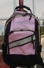L.L. BeanPINK WITH TAN BACKPACK WITH HANDLE FOOTBALL AND JESSICA ON BAG