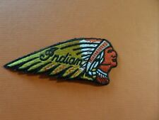 Vintage Indian motorcycle iron on patch  embroidered collectible 1-3/4 x 4-1/4