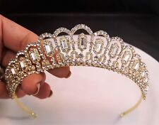 Bridal  Gold Plated Tiara / Sweet 16 Tiara / Wedding tiara