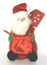 Plush Christmas Ornament  Santa Table Top, Bag Opens to Put Things in.