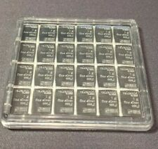 MINT Valcambi Suisse SILVER 24x 1 GRAM BAR IN QUADRUM CASE SEALED FREE SHIPPING!