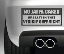 NO JAFFA CAKES CAR BUMPER STICKER FUNNY DRIFT JDM WALL ART DECAL