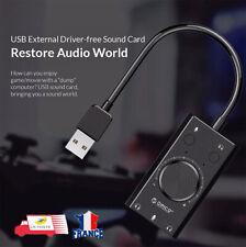 Carte Son USB Audio Interface Externe 3.5mm ORICO pour Windows / Mac / Linux