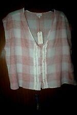 Equestrian Riding Rodeo Shirt Western Shyanne Xl Pink Sleeveless Nwt Button Down