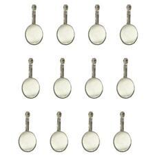 12er Oval Ohrring Rohlinge Brisuren basteln für 13x18mm Cabochons silber