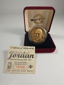 Michael Jordan Retired Jan. 13, 1999 Bronze Coin - The Highland Mint Upper Deck