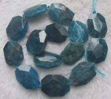 """20x25mm Natural Apatite Faceted Freeform Loose Beads 15.5"""""""