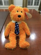 "2002 Retired TY Beanie Babies ""PAPPA"" the Father's Day Teddy Bear (Orange)"