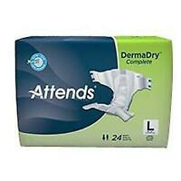 Attends Advanced Briefs for Adult Incontinence Care, Large, Unisex , 72 Count
