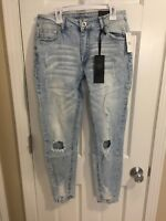 RUE 21 CURVY WOMENS JEGGING Jeans Light wash Destroyed Size 8 14