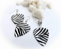 Animal Print Jewellery Sets Guitar Pick Style. Unique Ladies / Music Lover Gift