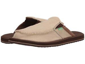 Men's Shoes Sanuk YOU GOT MY BACK III Easy Slip On Slides 1108390 TAN