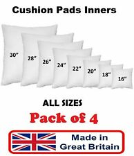 """4 Pack Cushion Pads Inners Inserts Fillers 16"""" 18"""" 20"""" 22"""" 24"""" 26"""" 28"""" 30"""" Pads"""