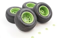 "HPI Savage XS Flux-POWERPIN 2.2"" MT TIRES & GREEN CLASSIC KING WHEELS"