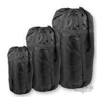 MILITARY STYLE DELUXE SLEEPING BAG COMPRESSION SACK BRITISH ARMY BLACK