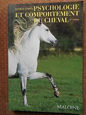 PSYCHOLOGIE ET COMPORTEMENT DU CHEVAL - DANIELE GOSSIN - ED. MALOINE 1992