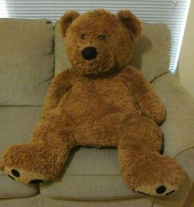 "Animal Alley Toys R Us Brown Teddy Bear 38"" Large Retired Plush Stuffed Animal"