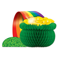 IRISH LEPRECHAUN POT OF GOLD ST PATRICK'S DAY HONEYCOMB PARTY TABLE CENTREPIECE!