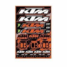 KTM Decal Sticker Sheet Motorcycle Racing 12 mil Graphics Vinyl Logo Offroad