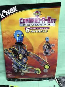 K'nex Command-A-Bot Radio Control Building Set 1999 Age 9+