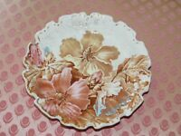 ANTIQUE ALTHEA BROWN WESTHEAD & MOORE TRANSFERWARE SCALLOPED PLATE