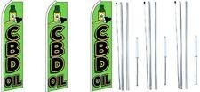 Cbd Öl Swooper Flagge Mit Komplett Hybrid Stange Satz 3 Packung