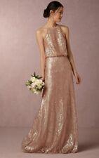 Anthropologie BHLDN Alana Sequin Maxi Dress by Donna Morgan Wedding Sz 8 $290