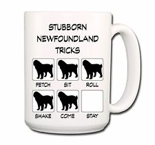 Newfoundland Stubborn Tricks Extra Large 15oz Coffee Mug