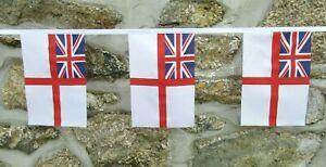 White Ensign Royal Navy Flag Polyester Bunting - Various Lengths