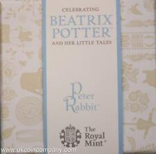 2017 Peter Rabbit Silver Proof 50p Coin Beatrix Potter Series