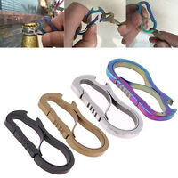 Metal Fast Buckle Outdoor Keychain EDC Emergency Titanium Alloy Carabiner Tool