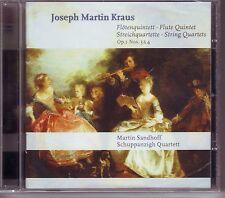 JOSEPH MARTIN KRAUS CD NEW MARTIN SANDHOFF STREICHQUARTETTE