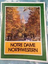 September 1975 Notre Dame Northwestern football program Juo Montana #3