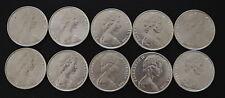 10 X Australian 1966 round 50 cent 80% silver Coin Gift