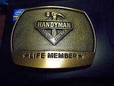 mm2. Belt Buckle  Handyman Club of America Lifetime Member 1996