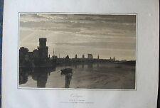 KÖLN. Seltenere Aquatinta von JOHN CARR, 1807