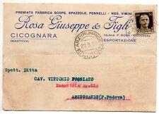 ROSA G & FIGLI CICOGNARA MANTOVA SCOPE VIMINI PRODOTTI PALUSTRI ORTICOLTURA 1939