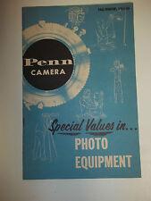 Penn Camera Catalog 1955-56
