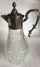 Vintage Sheraton Silver Plated With Pressed Glass Decanter/Claret Jug