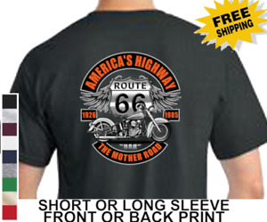 Biker Route 66 Americas Highway Mother Road Classic Motorcycle Men's T Shirt