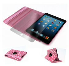CASE COVER+SCREEN PROTECTOR SWIVEL 360 ROTATING PU PINK DOT IPAD 2ND 3RD 4TH GEN