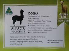 Queen Size Natural Fibre Alpaca Wool Doona 100% Organic Australian Made