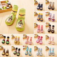 Cute Baby Anti-slip Shoes Boots Kids Toddler Girl Boy Slipper Socks 6-24 Months